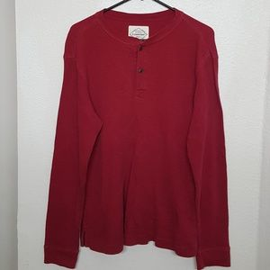 St. John's Bay Waffle Knit Henley Shirt. AMAZING!